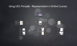 Using UDL Principle - Representation in Online Courses