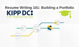 Resume Writing 101: Building a Portfolio
