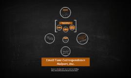 Email Tone Correspondence