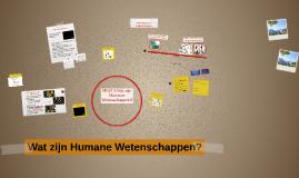 Wat zijn Humane Wetenschappen?