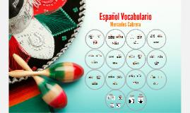 Espanol Vocabulario