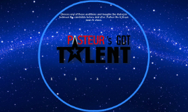 Pasteur's Got Talent - Homework