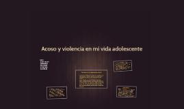 Acoso y violencia en mi vida adolescente