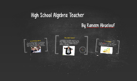 High School Algebra Teacher