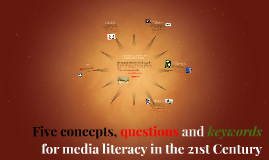 Five concepts, questions and keywords for media literacy in