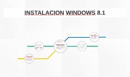 INSTALACION WINDOWS 8.1