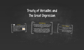 Treaty of Versailles and The Great depression