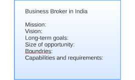 Business Broker in India