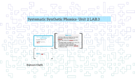 Systematic Synthetic Phonics- Unit 2 LAB.3