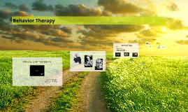 Copy of Behavior Therapy