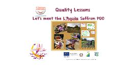 Let's meet L'Aquila Saffron PDO