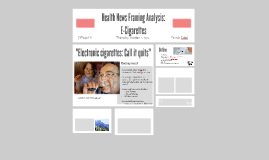 Health Communication: E-Cigarettes