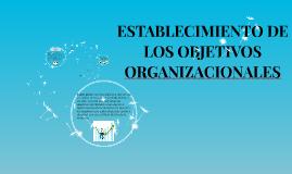 ESTABLECIMIENTO DE LOS OBJETIVOS