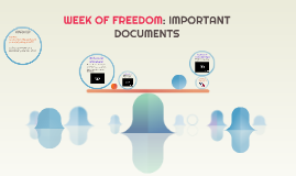 WEEK OF FREEDOM: IMPORTANT DOCUMENTS
