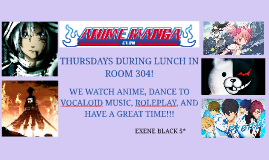 THURSDAYS DURING LUNCH IN ROOM 304!