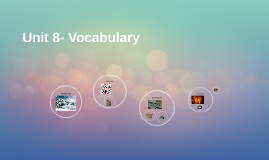 Unit 8- Vocabulary