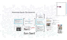 Newsroom Speak: The Answers!