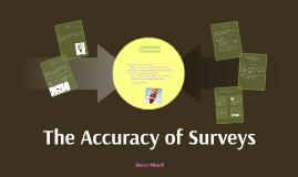 The Accuracy of Surveys