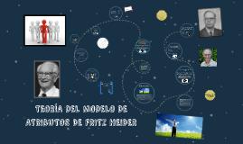 TEORÍA DEL MODELO DE ATRIBUTOS DE FRITZ HEIDER