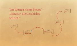 Im Westen nichts Neues - Literatur, die Geschichte schrieb