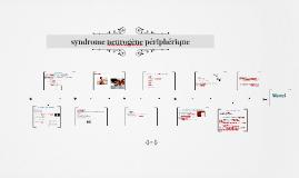 syndrome neurogène périphérique