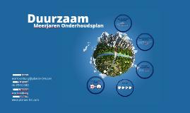 Duurzaam Meerjaren Onderhoudsplan (DMOP)
