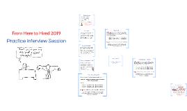 H2H 2019: Interview Practice