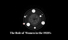 The Role of  Women in the 1920's