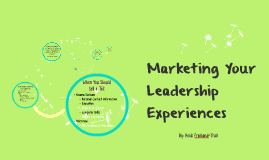 Marketing Your Leadership Experiences