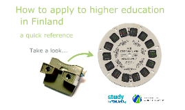 Study in Finland - How to Apply to Higher Education