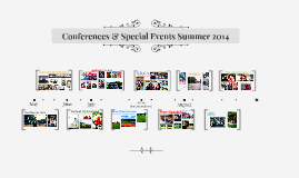 Conferences & Special Events Summer 2014