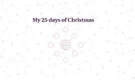 My 25 days of Christmas
