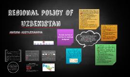 Regional Policy of UZBekistan