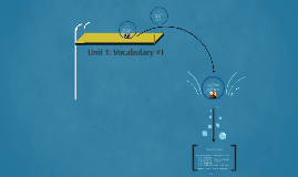 Unit 1: Vocabulary #1