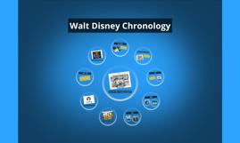 Walt Disney Chronology