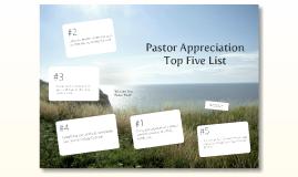 Pastor Appreciation Top Ten List (2nd Service)