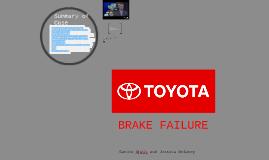 Toyota Brake Failure