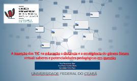 A inserção das TIC na educação a distância e a emergência do