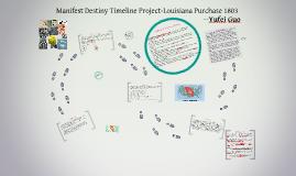 Manifest destiny timeline project -Louisiana Purchase