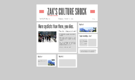 ZAK'S CULTURE SHOCK