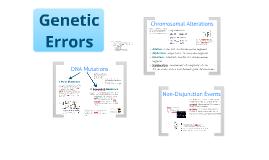 BI 3: Genetic Errors