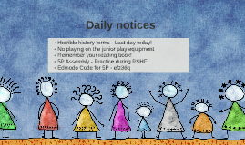 Daily notices