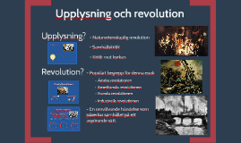 Upplysning och Revolution