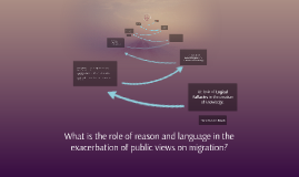 What is the role of reason and language in the exacerbation