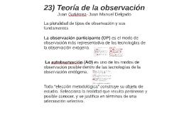 24) Teoría de la observación