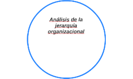 Análisis de la jerarquía organizacional