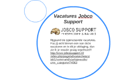 Vacatures Jobco Support