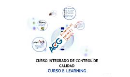 CURSO INTEGRADO DE CONTROL DE CALIDAD