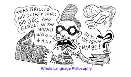 Whole Language Philosophy