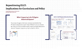 Repositioning ELLT: Implications for Curriculum and Policy